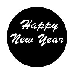Rosco GAM Steel Gobo - Happy New Year