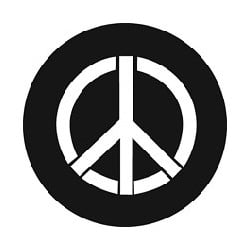 Rosco GAM Steel Gobo - Peace Piece