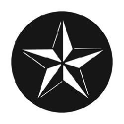 Rosco GAM Steel Gobo - 3-D Star