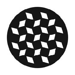 Rosco GAM Steel Gobo - Diamond Pattern (V)