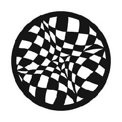 Rosco GAM Steel Gobo - Checkerboard Visions
