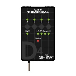 City Theatrical SHoW DMX Neo D4 Dimmer - Wireless