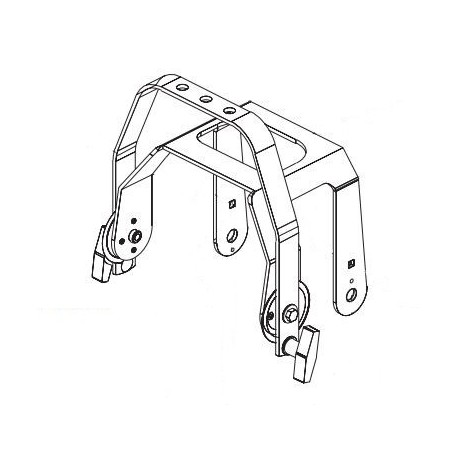 ETC Balance Yoke Assembly - For Source Four Zoom - White (7060A2028-1)