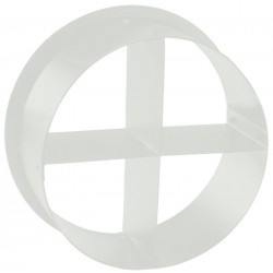 ETC Cross Baffle Top Hat - White (PSF1031-1)