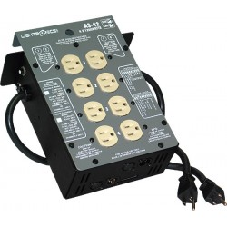 Lightronics AS42 Series Portable Dimmer - 4 Ch 1200W Circuit Breakers