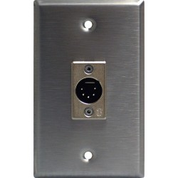 Lightronics Single Gang Wall Plate - Male DMX-512 5-Pin