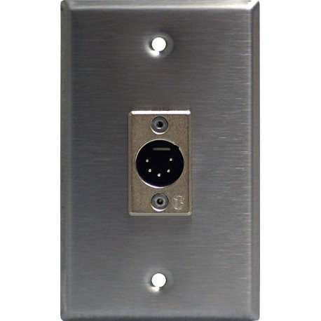 Lightronics Single Gang Wall Plate - Male DMX-512 5-Pin  sc 1 st  Stage Lighting Store & Lightronics Single Gang Wall Plate - Male DMX-512 5-Pin - Stage ...