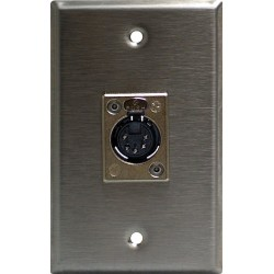 Lightronics Single Gang Wall Plate - Female DMX-512 5-Pin