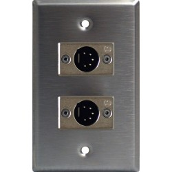 Lightronics Single Gang Wall Plate - Male Dual DMX-512 5-Pin