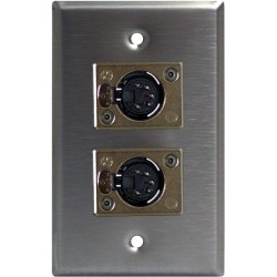 Lightronics Single Gang Wall Plate - Female Dual DMX-512 5-Pin