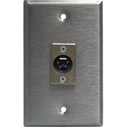 Lightronics Single Gang Wall Plate - Male DMX-512 4-Pin