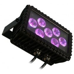 Blizzard LED RGB 7x 3-Watt Wash Fixture - Black