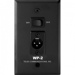 Telex RTS WP-2 Wall Plate Channel 1/2 Selector Switch 3-Pin XLR