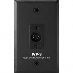 Telex RTS WP-3 Wall Plate Dual-Channel 6-Pin XLR
