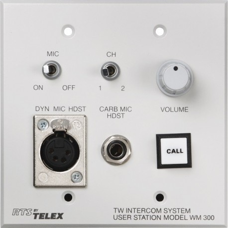 Telex RTS WM300L A4F Wall Mount User Station