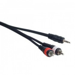 ADJ Mini Plug 15' 1/8in. to Dual RCA