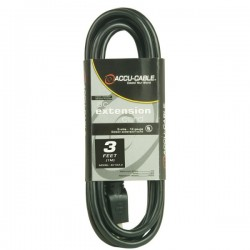 ADJ 3' - 16 Gauge AC Extension Cord (Black)