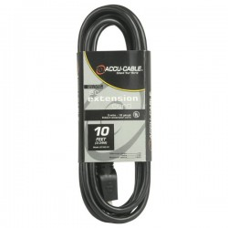 ADJ 10' - 16 Gauge AC Extension Cord (Black)