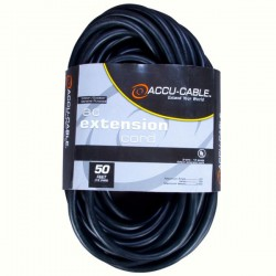 ADJ 50' - 16 Gauge AC Extension Cord (Black)