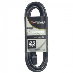 ADJ 25' - 12 Gauge AC Extension Cord (Black)