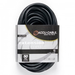 ADJ 50' - 12 Gauge AC Extension Cord (Black)