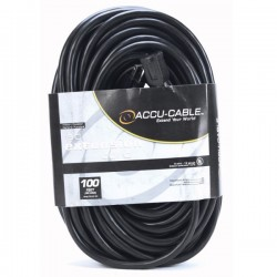 ADJ 100' - 12 Gauge AC Extension Cord (Black)