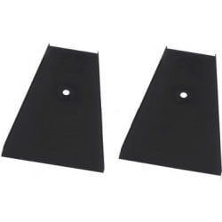 Altman Double Zip Strip Floor Trunnion - Black - Pair
