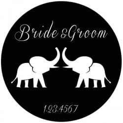 Rosco Steel Gobo SLS 0040 Wedding Elephants