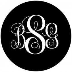 Rosco Steel Gobo SLS 0042 Wedding Initials
