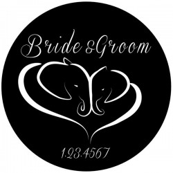Rosco Steel Gobo SLS 0044 Wedding Bride and Groom Elephants