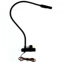 Littlite 6in. Top Mount Gooseneck & Bottom Mount Cord w/Automotive Wiring