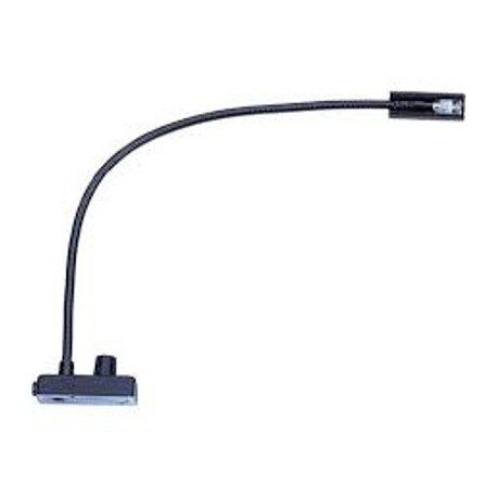 Littlite 12in. Gooseneck LED Permanently Attached L-3/12 with US Power Supply Bottom Mount Cord