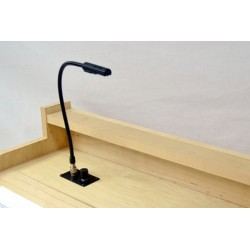 Littlite 18in. Permanent Gooseneck Flush Mount with NO Power Supply