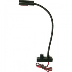 Littlite 12in. Gooseneck Permanent Mount High Intensity with Automotive Wiring Kit 12-28 Volt Operation