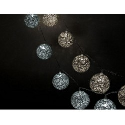 Fortune Cotton Ball String Lights White & Warm White LED