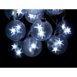 Fortune Star Sphere String Light 6 Orbs 18 White LED