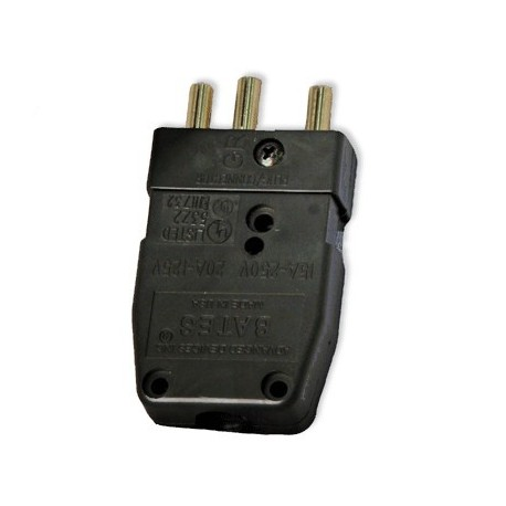 Lex 20 Amp 125 VAC Stage Pin Male Inline Connector