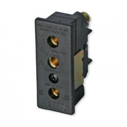 Lex 20 Amp 125 VAC Stage Pin Female Panel-Mount Connector