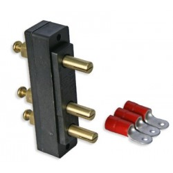 Lex 100A 125 VAC Stage Pin Male Panel-Mount Connector