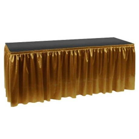 Poly Knit Table Skirt 14 X 29in High Hook Amp Loop