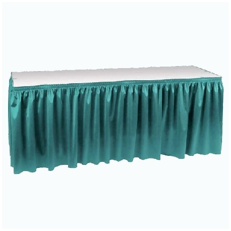 Poly Knit Table Skirt 14 X 29in High Hook Loop