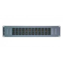 Lightronics 12 Channel Stagepin Rack Mount Dimmer Back Panel