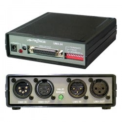 Lightronics DMX-512 or LMX-128 Input to 0-10 VDC Output Converter