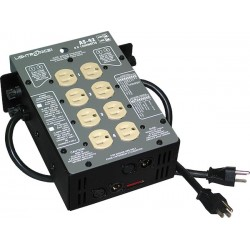 Lightronics AS42 Series Portable Dimmer - 4 Ch 1200W UL-508 Compliant - 12A Mains Circuit Breaker