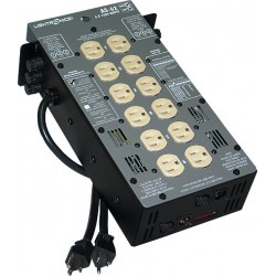 Lightronics AS62 Series Portable Dimmer - 6 Channel 1200W Fuses with Stagepin Output