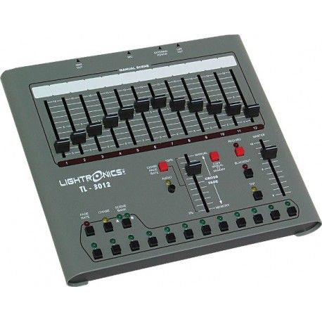 Lightronics Lighting Control Console 12 Channel With Dmx 512 Output 120v Operation