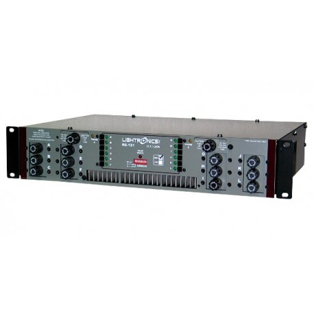Lightronics Rack Mount Dimmer - 12 Channel - 1200W - DMX-512 5-Pin with Stagepin Outlet Panel