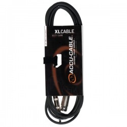 Accu-Cable 1/4in. TRS to XLR 12ft Speaker Cable