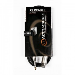 Accu-Cable 1/4in. TRS to XLR 6ft Speaker Cable