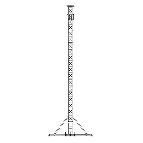 "Applied NN GS-45 Ground Support Tower System - 45' Height w/ 20.5"" Truss"